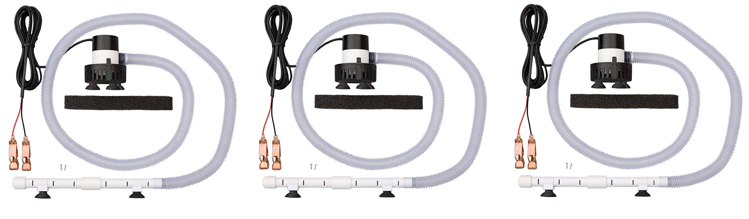 Marine Metal SS212 Aeration System 12 V DC with Bilge Pump & Kit (Thrее Расk) by Marine Metal