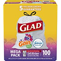 2-Pack x 100-Count Glad Tall Kitchen Drawstring 13 Gallon Trash Bags
