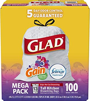 200-Count Glad Tall Kitchen Drawstring 13 Gallon Trash Bags