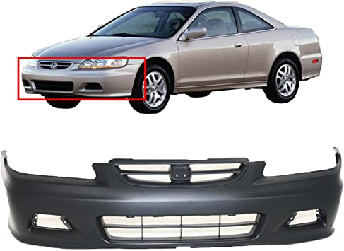 NEW fits 1998 1999 2000 Honda Accord Sedan Front Bumper Cover Painted