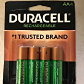 Amazon.com: Duracell AA NiMH rechargeable Blister Pack, 4 ...