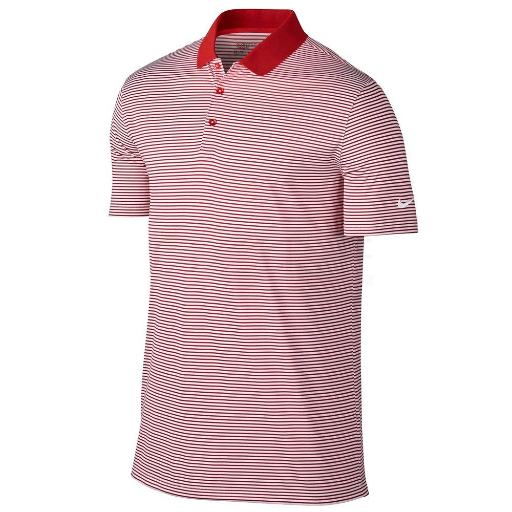 Nike Victory Mini Stripe Men's Golf Polo (Gym Red/White, Small)