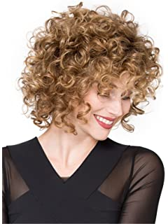 Synthetic Short Hair Natural Afro wig Kinky Curly Wigs for Women Blonde Mixed African Fake Hair