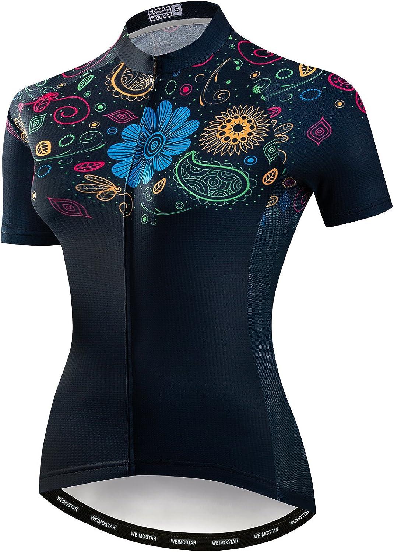 JPOJPO Womens Cycling Jersey, Mountain Bike Jersey Women Shirt Tops S-2XL - Four Fabric Made: Clothing