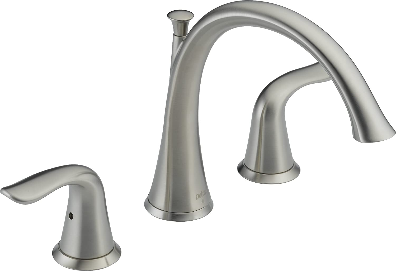 Delta T2738-SS Lahara Roman Tub Trim, Stainless - Bathtub Faucets ...