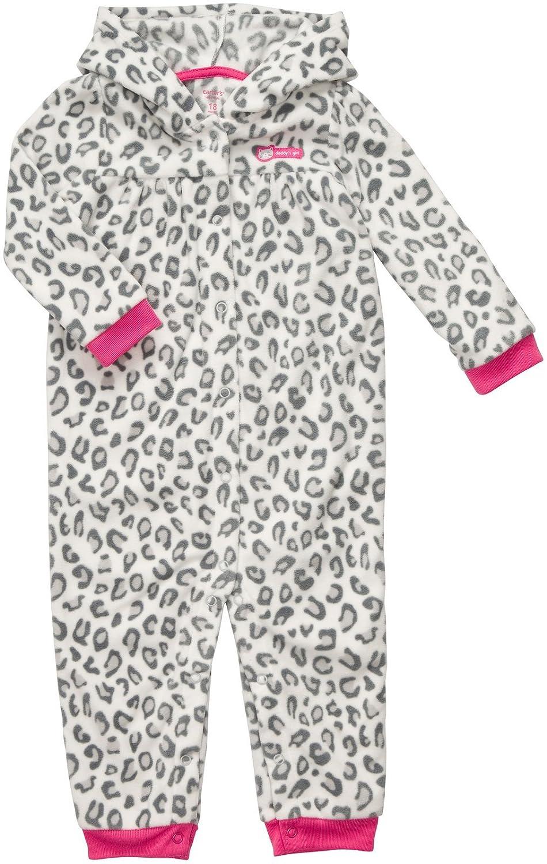 Carters Baby Girls Infant Long Sleeve 1Piece Hooded Fleece-12 Months
