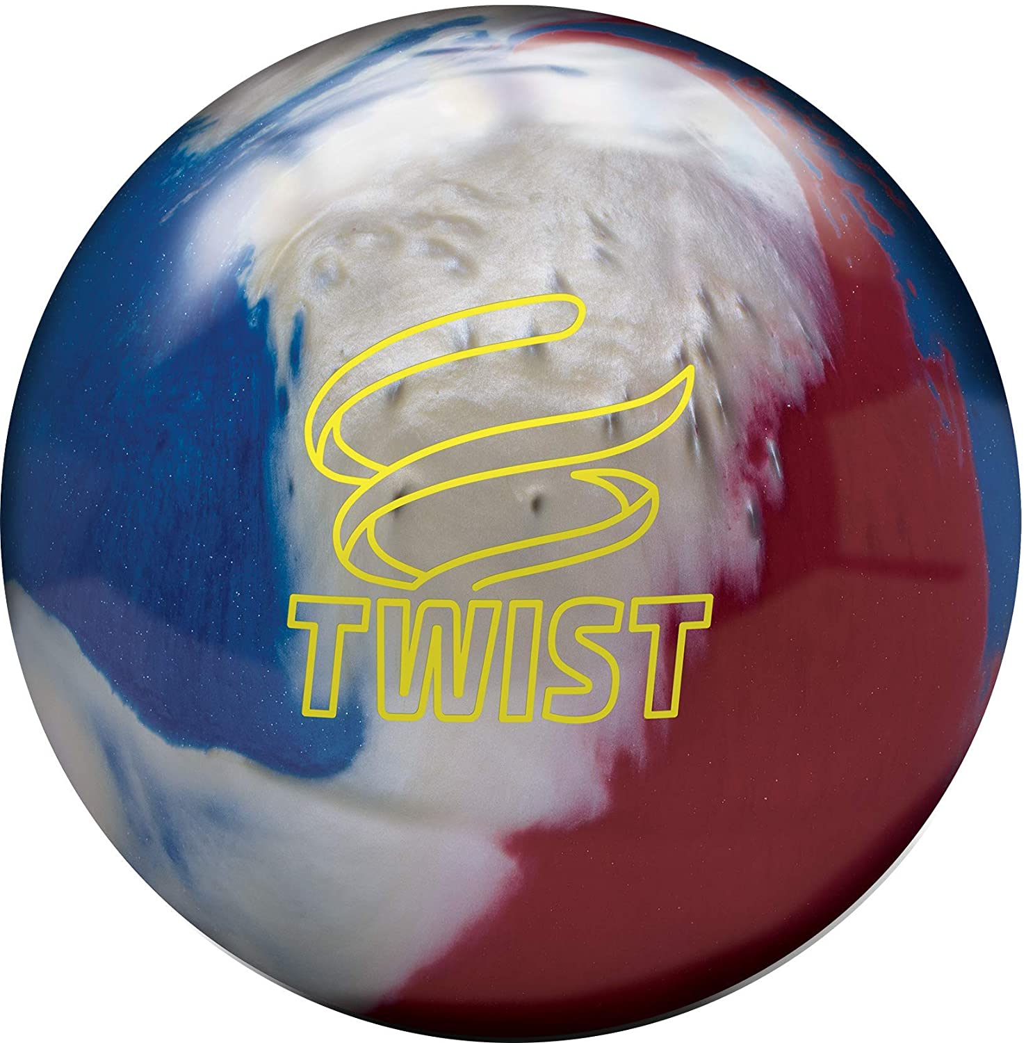 New Brunswick Bowling >> Amazon Com Brunswick Twist Reactive Bowling Ball Red White Blue