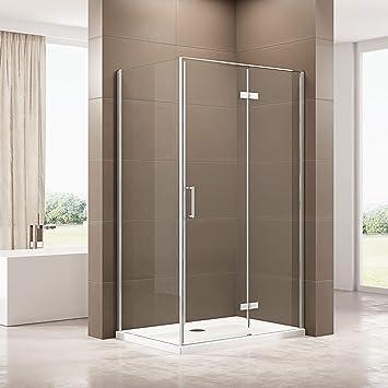 Cabina de ducha de 90 x 120 cm con plato de ducha de SMC, mampara ...