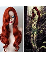 Longlove Copper Red Hair Female Cartoon Character Halloween Masquerade Playing Game Big Wave Wig