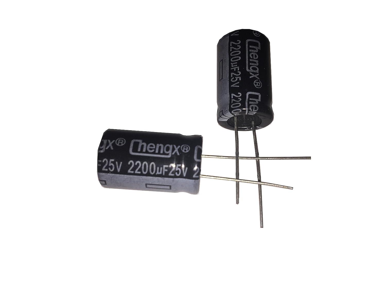 40-+105℃ 20 PCS Aluminum Electrolytic Capacitors LATTECH //-20/% 2200uF 25V 13X20