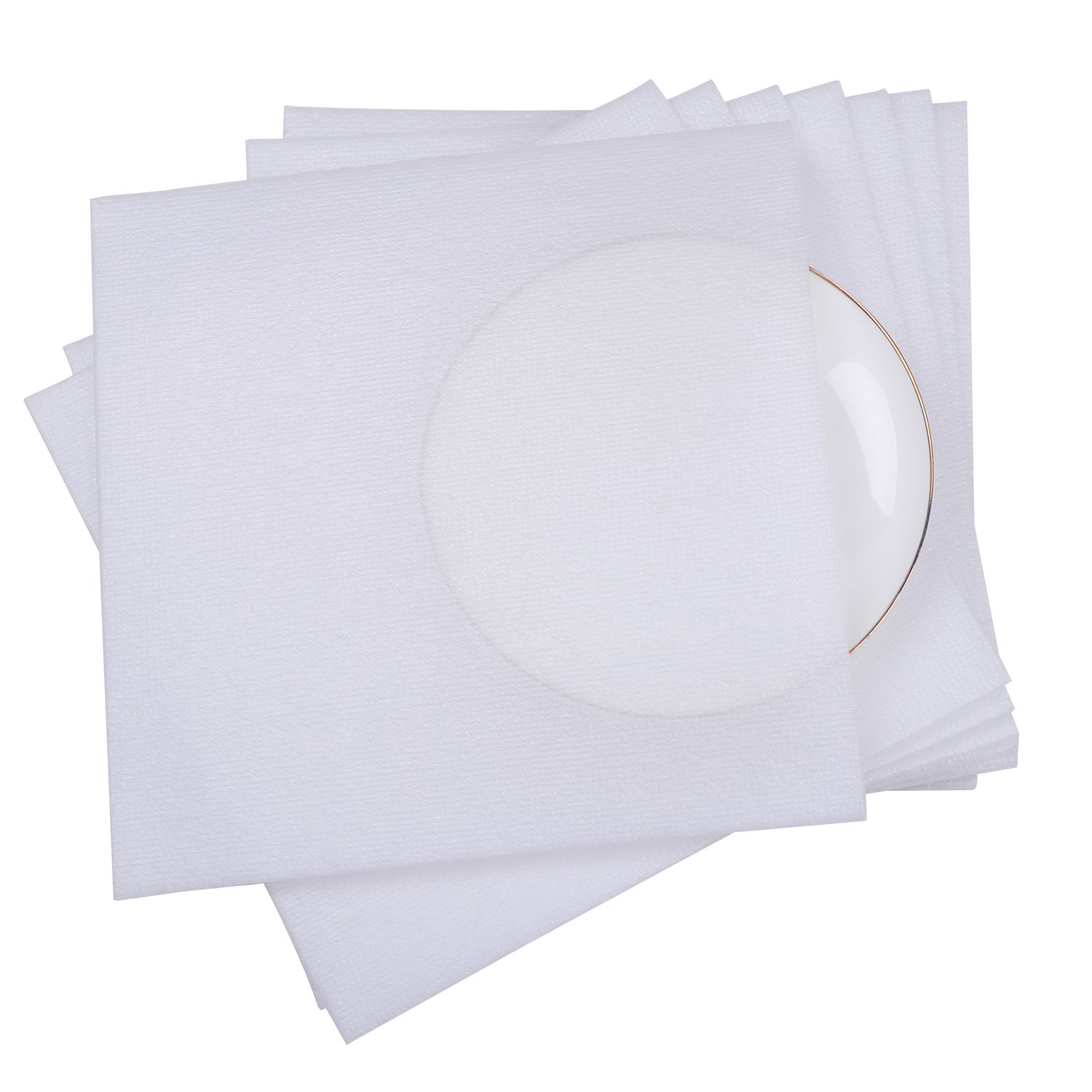 1/4'' Super Thick Foam Wrap Cup Pouches 12'' x 12'' (25 Count), Cushion Pouches to Protect Dishes, Glasses, Porcelain & Fragile Items, Packing Supplies for Moving