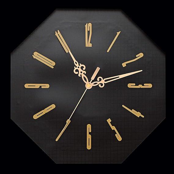 BSTCAR Lange Schaft Uhrwerk Uhr Motor Bewegung Wanduhr Bewegungsmechanismus DIY Ersatzteile Ersatz mit 3 Verschiedenen Paar H/änden Schwarz