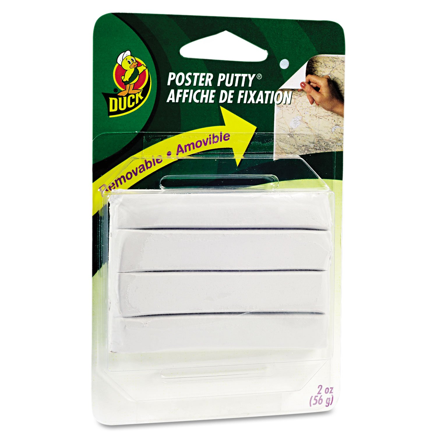 Duck Brand Removable Mounting Poster Putty, 2 oz, White (1436912)