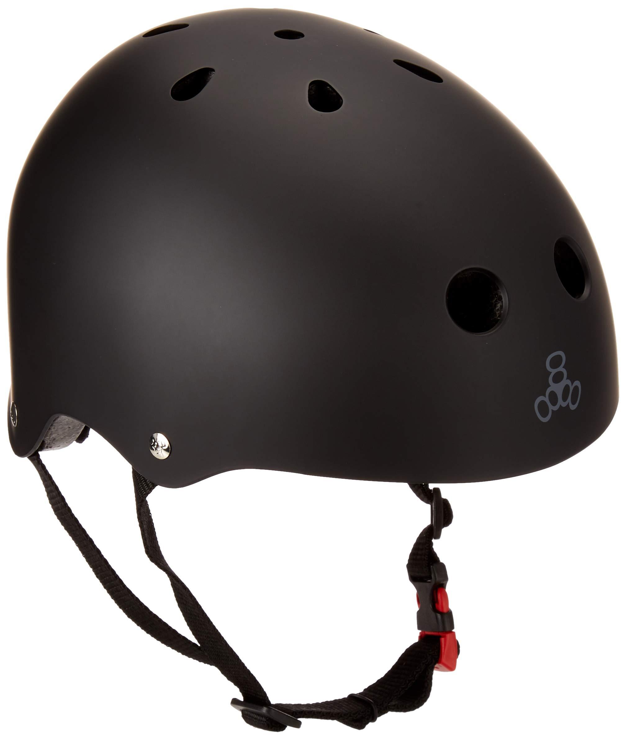 Triple Eight Dual Certified MIPS Bike and Skateboard Helmet, Black Matte, Small/Medium