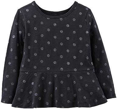 536074b4 Amazon.com: Carter's Little Girls' Print Peplum Top (Toddler/Kid ...