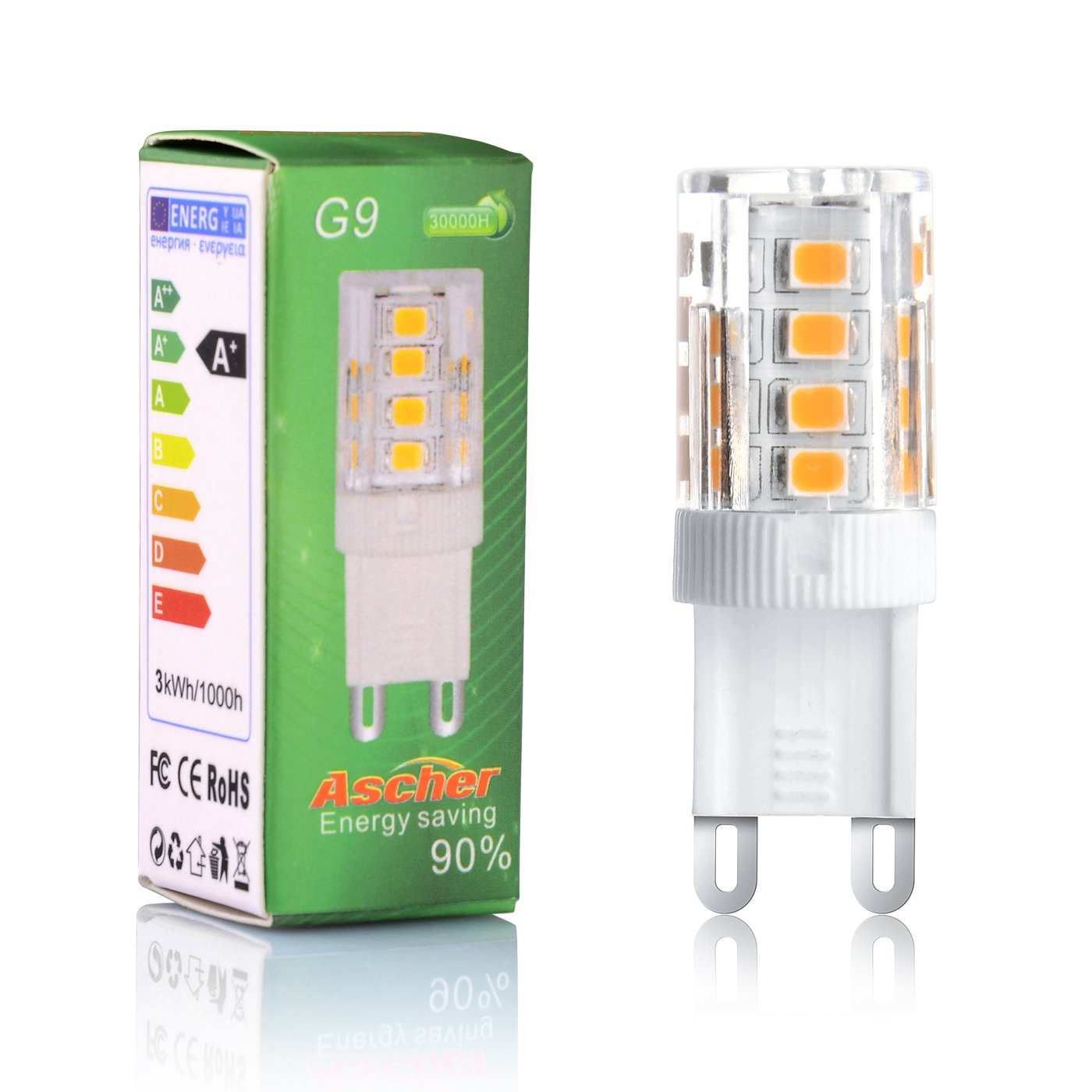 Ascher 10er pack g9 3w led lampe vgl 25w halogen 250lm ascher 10er pack g9 3w led lampe vgl 25w halogen 250lm warmwei ac 220 240v 360 abstrahlwinkel g9 led birnen led leuchtmittel amazon parisarafo Gallery