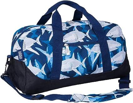 Sport Duffel Bag Black And White Spots Gym Bag Kids Travel Bag Weekend Bag