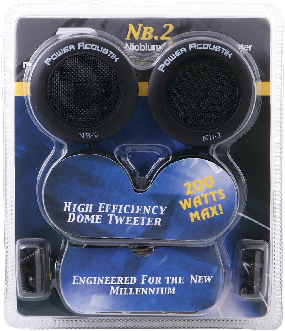 4 New Power Acoustik NB-2 400W 1 Car 3 Way Mount Audio Dome Super Tweeters