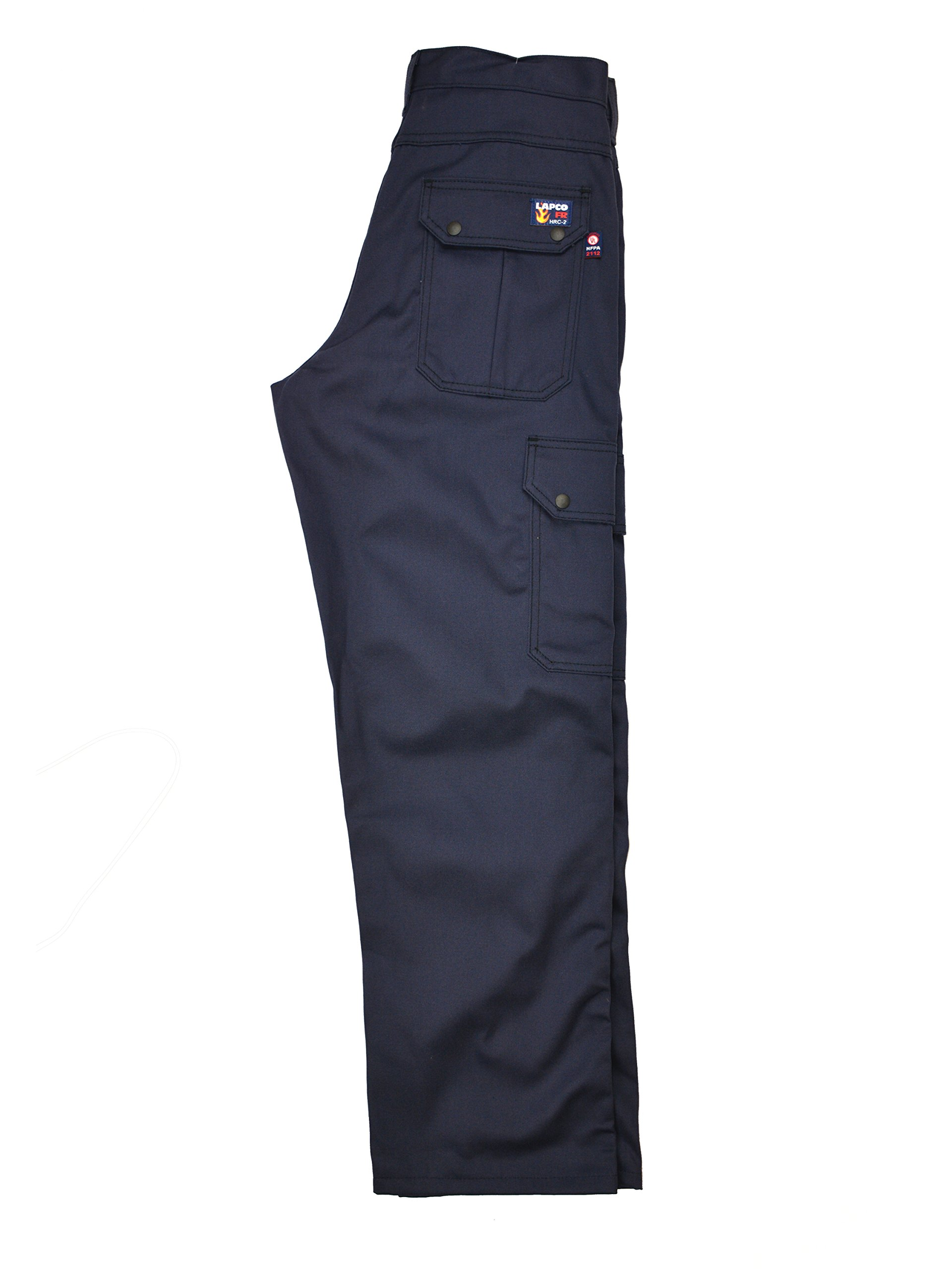 Lapco FR P-INCNYT9 34X30 Cargo Pant, 100% Cotton, 34'' x 30'', Navy by Lapco FR (Image #1)