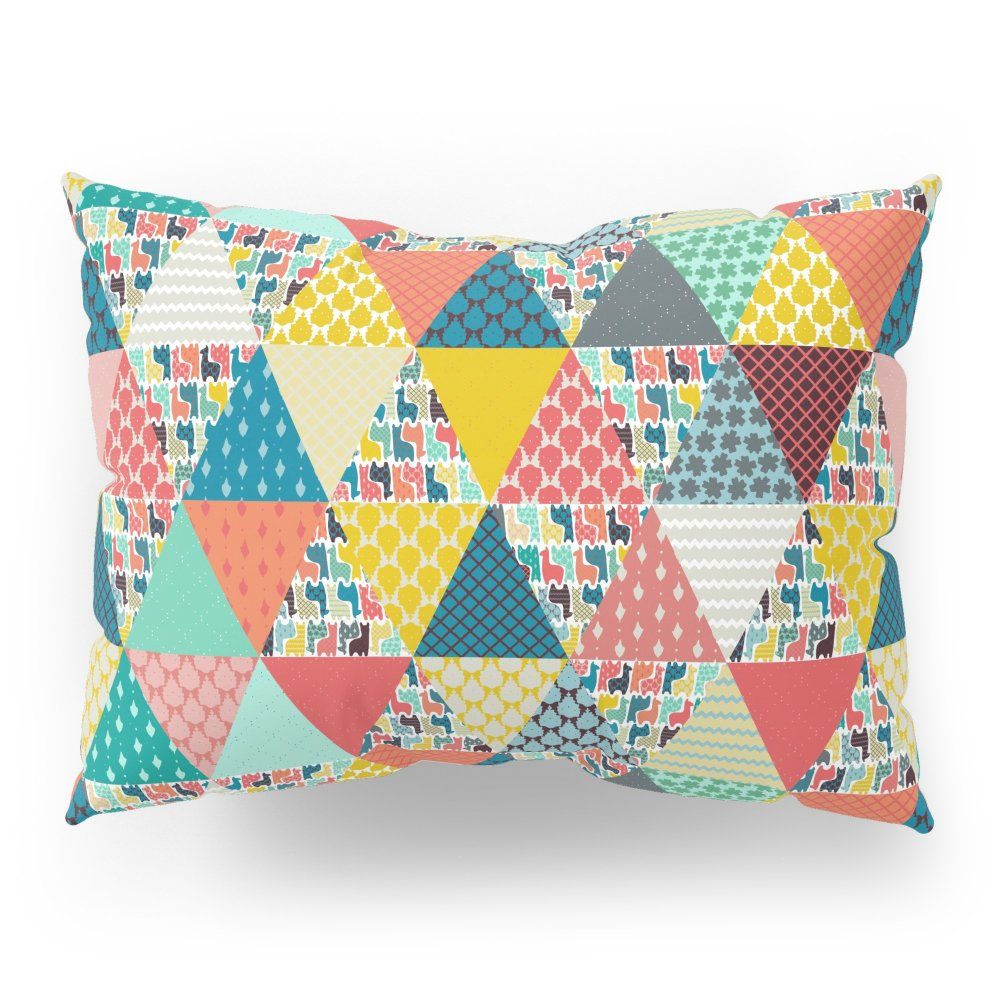 Society6 Llama Geo Triangles Pillow Sham Standard (20'' x 26'') Set of 2