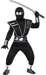 Amazon.com: Morph Kids Ninja Costume Childrens Black Kung Fu ...