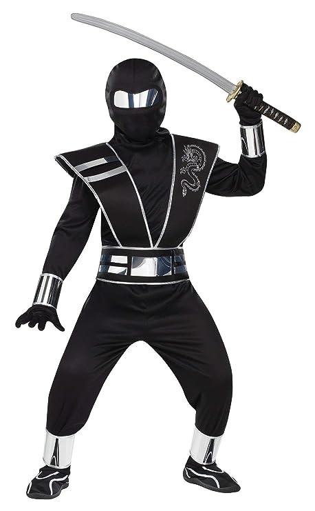 Fun World FW131602-L Ni-os Silver Mirror Ninja Costume Tama ...
