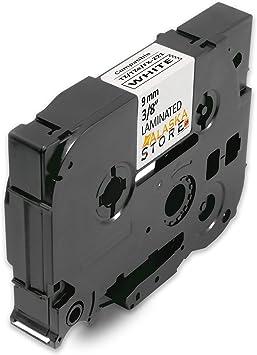 5x Schriftband für Brother TZe 221 TZe221 9mm schwarz auf weiß P-Touch 1010 1005