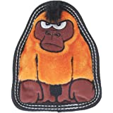 Invincibles Tough Seamz Stuffingless Durable Tough Plush Toy for Dogs, Tough Squeaky Dog Toy by Outward Hound, Small, Gorilla