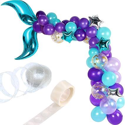 Amazon.com: 88 piezas de guirnalda de globos de cola de ...
