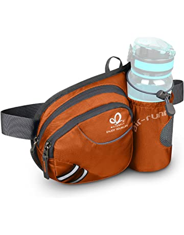 Waterfly Hiking Waist Bag Fanny Pack with Water Bottle Holder for Men Women  Running   Dog 70e75950b2d35