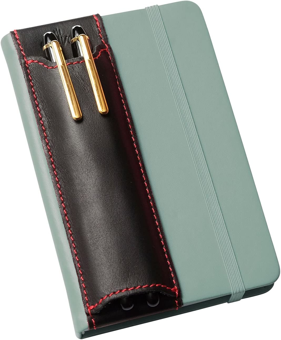 Journals Full Grain Leather Elastic Non-Adhesive Reusable QUIVER Pen Holder for Notebook Planners Tall 20.3-21.5 cm Fits A5 Notebooks Single Pen Holder and Diaries 8-8.5 Inches