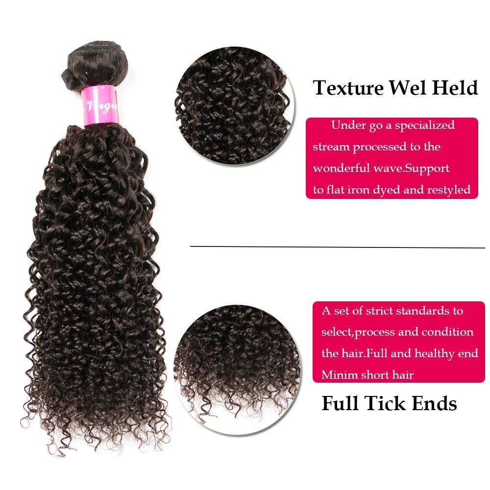 Amazon.com : Eullair Curly Brazilian Virgin Hair Extensions 3 ...