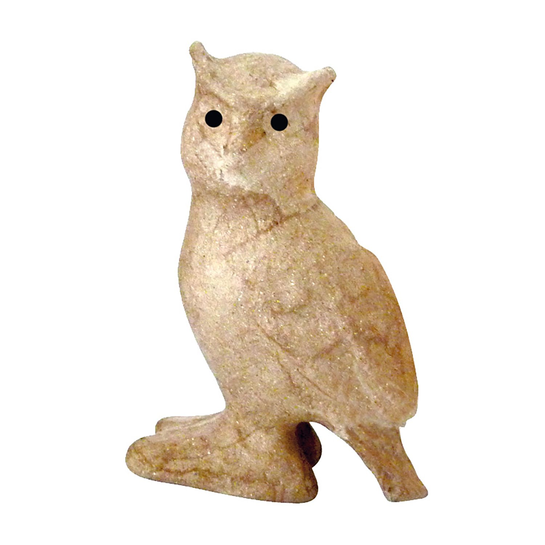 Brown d/écopatch Extra Small Mache Owl AP124O