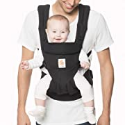 Ergobaby Carrier, Omni 360 All Carry Positions Baby Carrier, Pure Black