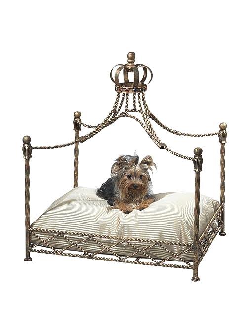 Amazon.com: MyHabit oro antiguo hierro Corona dosel cama ...