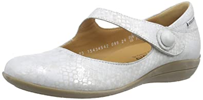 bc5dc9f0afa0d3 Mephisto Odalys Queen 14768 Silver, Damen Mary Jane Halbschuhe, Silber  (Silver),