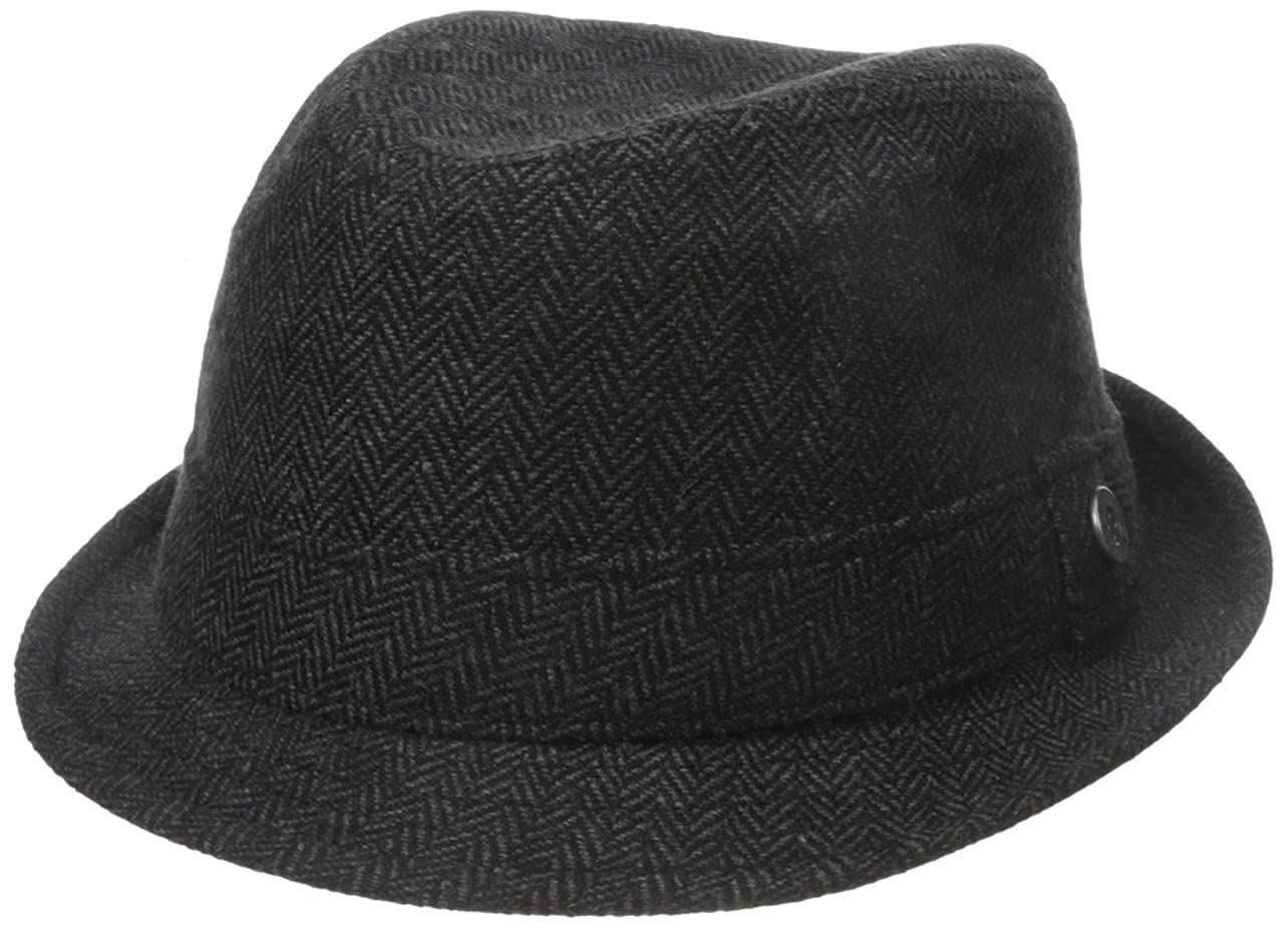 Ben Sherman Men's Wool Houndstooth Trilby Hat Charcoal Small/Medium Ben Sherman Headwear BS4769