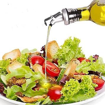 shuxy aceite de oliva vinagre dispensador salsas Servicio de mesa cuadrado de cristal botella de aceite