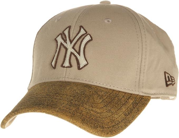 New Era – Gorra, diseño de los NY Yankees, color beige crema Logo ...