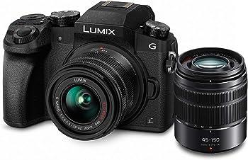 Panasonic Lumix G7 16MP 4K Mirrorless Camera w/14-42mm & 45-150 Lens