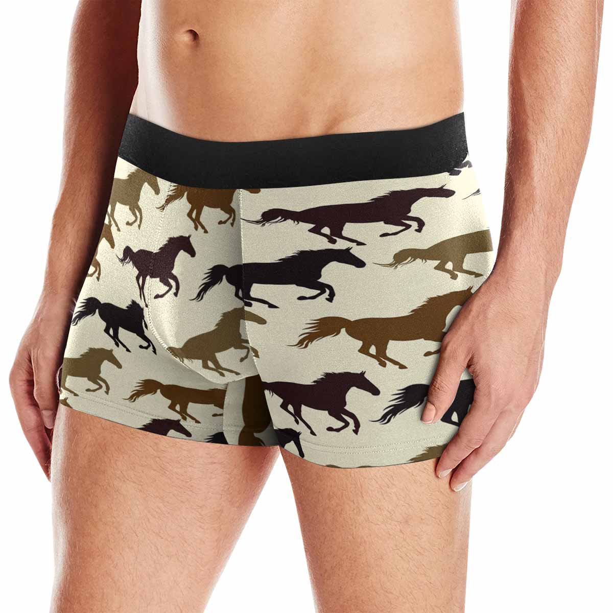 XS-3XL INTERESTPRINT Custom Mens Boxer Briefs Horse Pattern with Symbol of Year