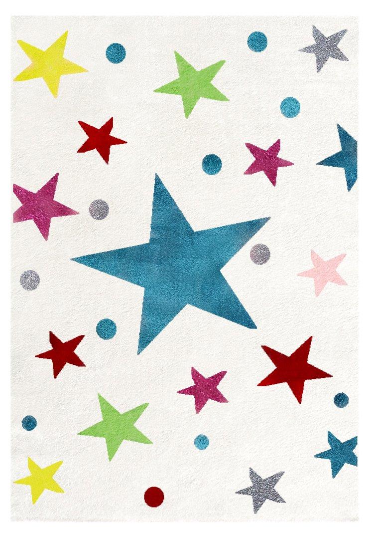 Livone Kinderteppich Happy Rugs STARS creme multi 160 x 230 cm