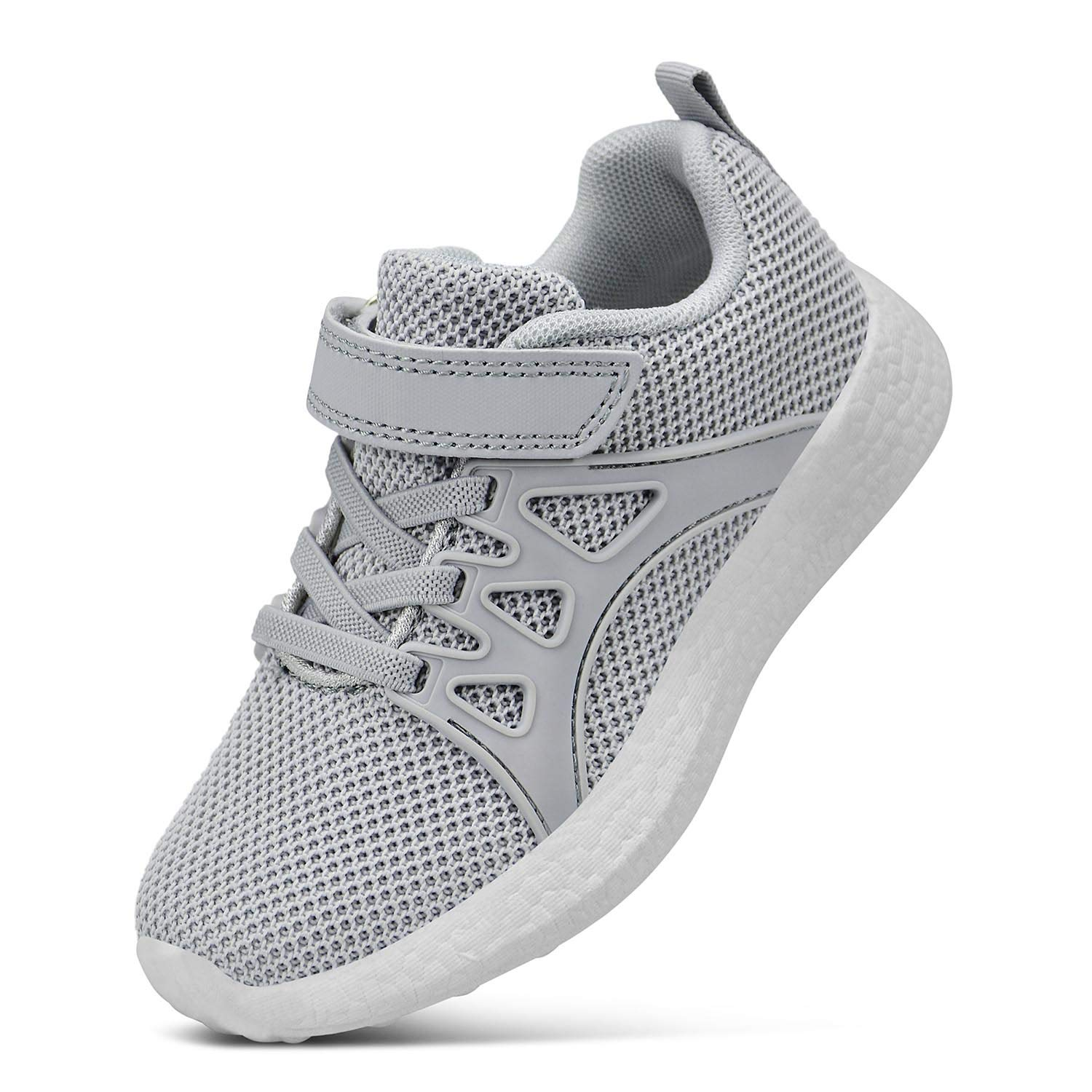 SouthBrothers Shoes Kids Knitted Boys Breathable Casual Sneakers Gray Size 1.5 M US Little Kid