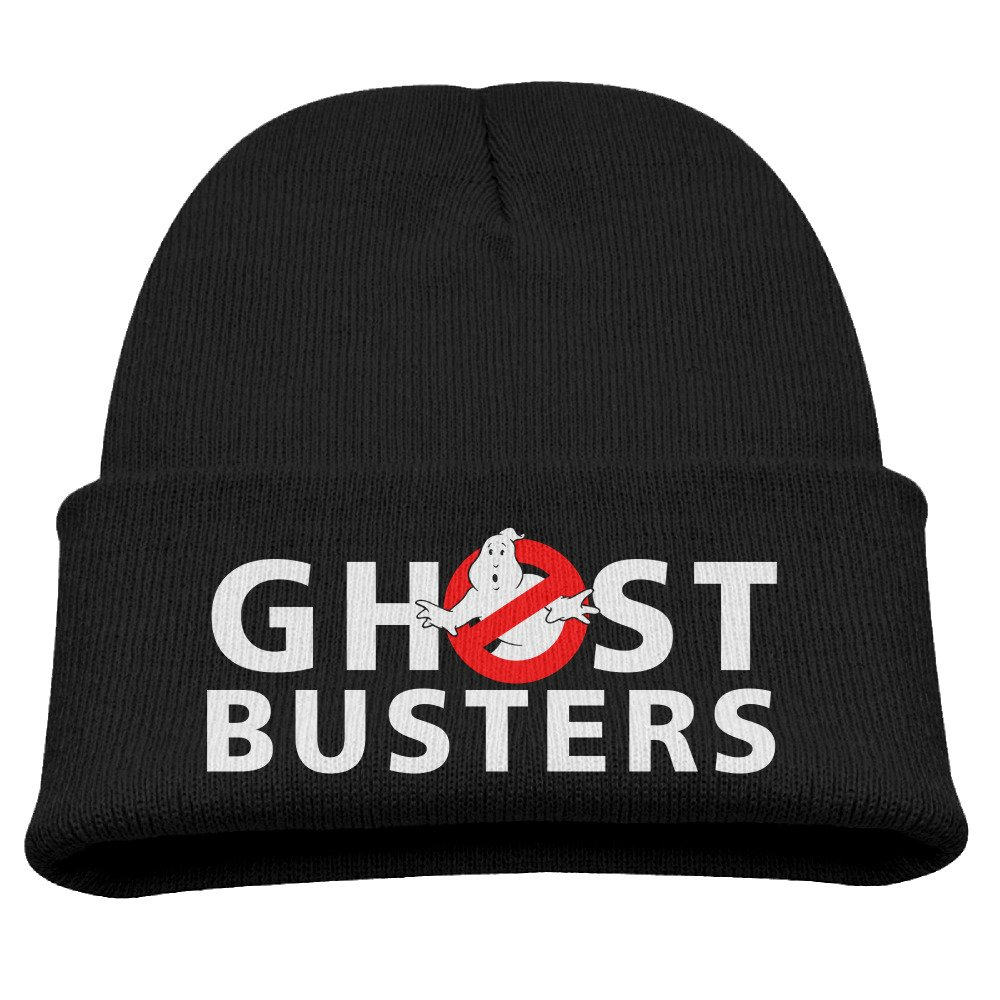 CieMoAs Ghostbusters Logo Children Knit Slouchy Hat Beanies Cap Black