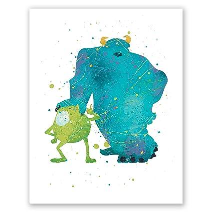 Amazon Com Pgbureau Monsters Inc Poster Sully And Mike Wazowski