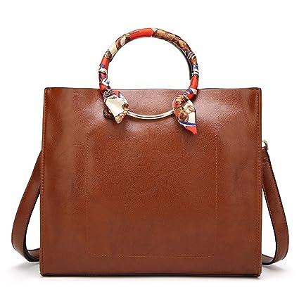 AFCITY Mujeres Bolsos Mano Satchel Cartera O-Ring Handle Handbag para Mujeres Crossbody Bags Daypack