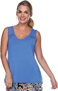 product image for JudyP Blu Women's Heather V-Neck Top (8 Colors)