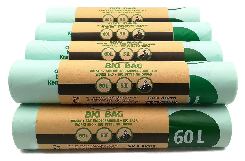 Bolsa Dumil para basura orgánica, verde, 60 Liter 50 Stück ...
