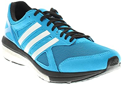 adidas Mens Adizero Tempo Boost 7 Running Sneaker Shoe, Solar  Blue/White/Black