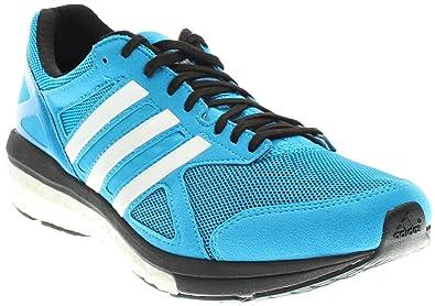 adidas Mens Adizero Tempo Boost 7 Running Sneaker Shoe Solar  Blue White Black